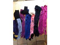Girls tights bundle - 13 pairs and age range of between 10 and 13