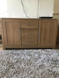 Oak Effect Sideboard / Unit & Coffee Table