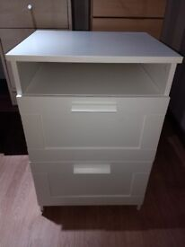 LARGE Lamp Table / Side Table / Bedside Drawers / Cabinet / Utility / Kitchen / TV stand WHITE