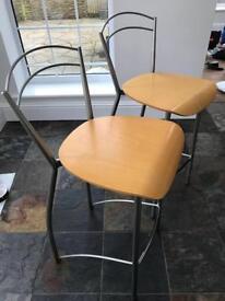Two kitchen bar stools