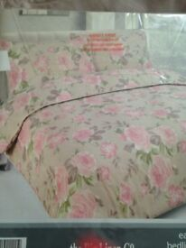 THE BIG LINEN CO DOUBLE DUVET SET 2 PILLOWCASES NEW BARGAIN
