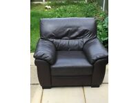 Two-seater seater sofa and chair