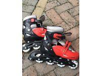 Junior inline skates size 2-4