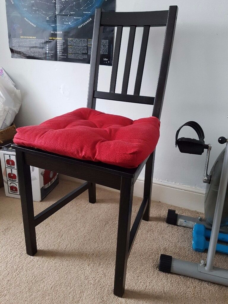 Ikea black dining chair excellent condition