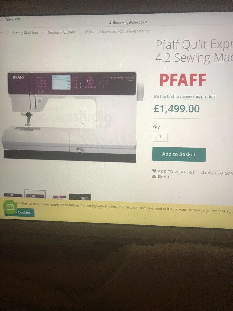 Pfaff Quilt Expression 4 2 Sewing Machine In Bexhill On Sea East Sussex Gumtree