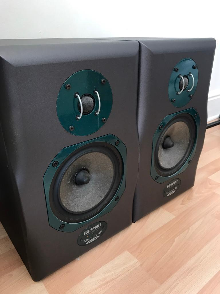 Spirit Absolute 4P Active Pro Monitors (Pairin Southall, LondonGumtree - Pair of Spirit Absolute 4P Active pro monitors for sale, in excellent condition and fully functional.Ideal for studio musicians/producers. Superb, defined sound quality. Selling only due to lack of use.Comes with 2 x power cords.If interested, you...