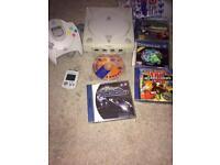 Sega Dreamcast console and games