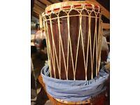A pair of African Dumdum drums