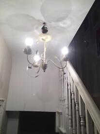Cream chandelier 3 arm