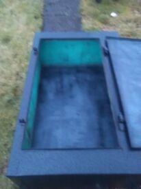 metal storage box for pick up or van large