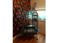 Open top parrot cage bird cage