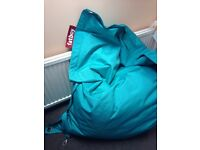 Fatboy Buggle up Beanbag in Turquoise,great condition.