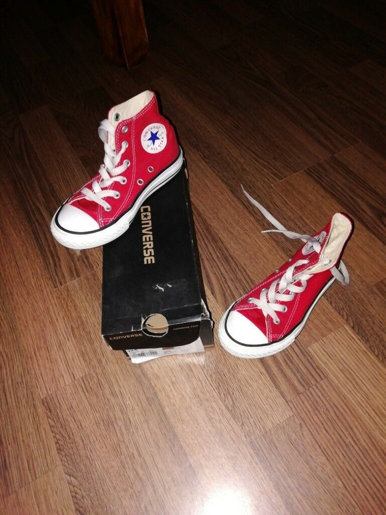6e2bf5076a69 Converse All Stars. Youths size 12. In red.