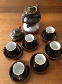 Retro espresso coffee machine set
