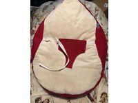 Lovely Raspberry colour baby Gaga bean bag chair hardly used