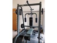 Bodymax Home Multi Gym- bench, lat pull down, lower pulley, Smith machine, weights included 400ono