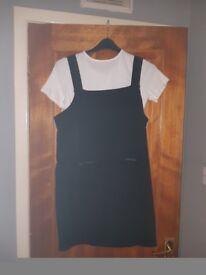Black dress with white tshirt