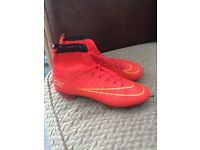 Boys Nike mercurial sock/ankle football boots
