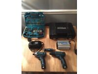 Erbauer power drills x2 / makita kit / charger / inverter charger