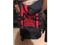 Proaction large rucksack travellers backpack