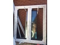 White double glazed UPBC French doors