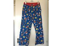 Super Mario men's pj trousers large