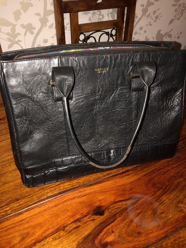 3021dd1d4f72   OSPREY   original Osprey Black Ladies handbag. Enfield ...