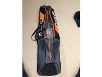 Orange and black hockey bag
