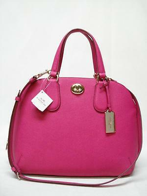$395 NWT COACH GROSSGRAIN PRINCE STREET DOME SATCHEL 34939 PINK RUBY  MUST HAVE!