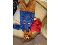 Paddington Bear All in One/ Dress Up age 1 to 1 . 1/2