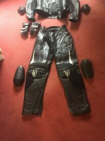 Ladies leather motorcycle trousers.