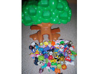 Moshi Monster Treehouse and collection of Moshi Monsters