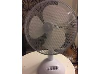 White Table Fan