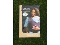Caboo baby carrier totally taupe organic cotton