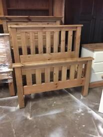 New solid pine single bed £85 bargain price call now