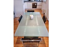 Beautiful Cattelan Italia extending dining table and chairs