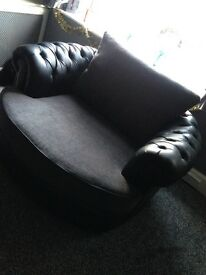 Swivel cuddle chair and sofa £280 ono.. Bargain