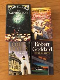 4 novels by David Eddings, Michael Swanwick, Colin Dexter and Robert Goddard