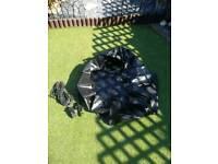 Pond liner and pump