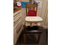 Fisher Price booster chair with detachable dishwasher proof tray.