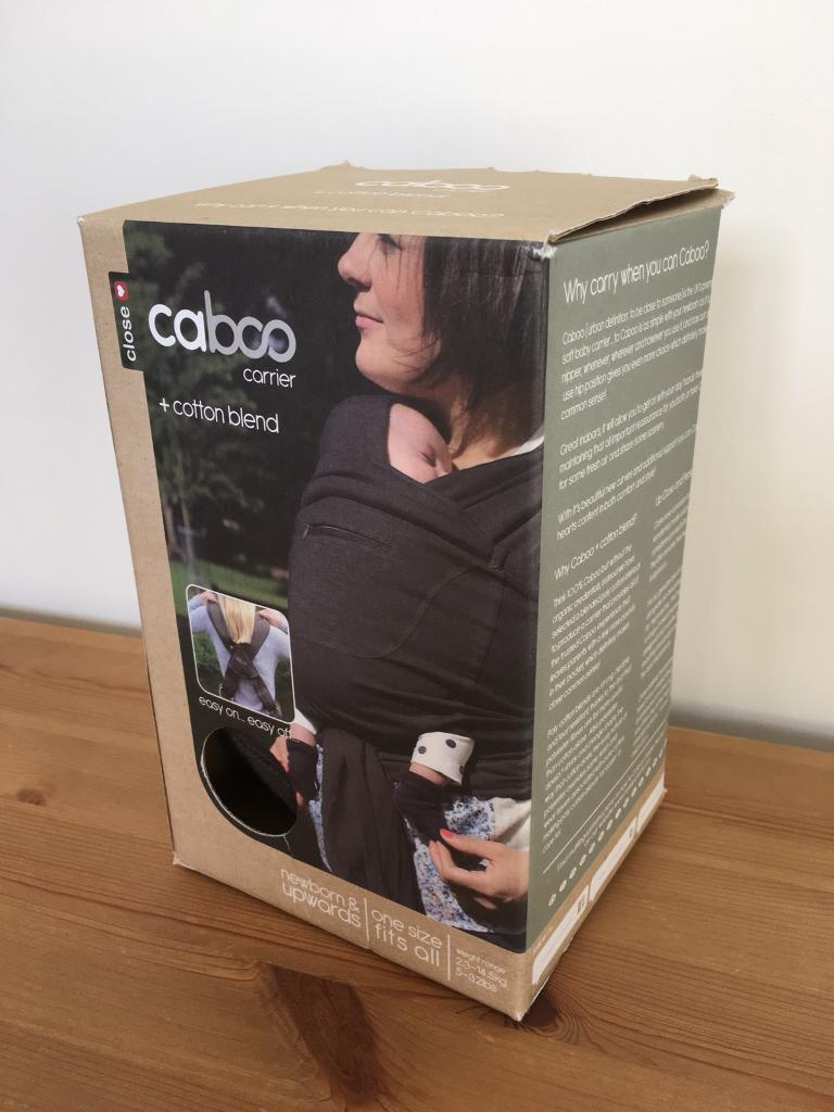 Caboo Plus Cotton Blend Baby Carrier/ Sling (Graphite) RRP £59.99