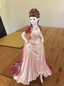 LIMITED EDITION COALPORT FIGURINE - ornament 'ladies of fashion' JOANNE