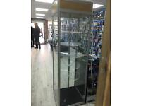 Glass rotating display cabinet