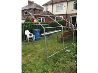 Temporary shed frame