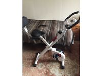 Folding Exercise Bike with Computer, Pulse Sensors and Variable Resistance Settings New RRP£120