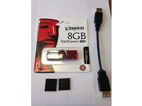5 x KINGSTON 8gb Data Traveller Memory stick