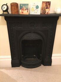 Cast iron Victorian fire surround/mantle
