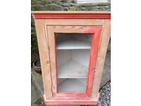 Pine Wall Corner Unit - Sold As Seen