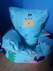 peppa pig George pig bean bag chair and curtains