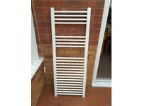 2x White Towel Radiators